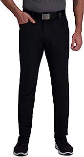 Haggar Men's Active Series Slim Fit Flat Front 5-Pocket Tech Pant