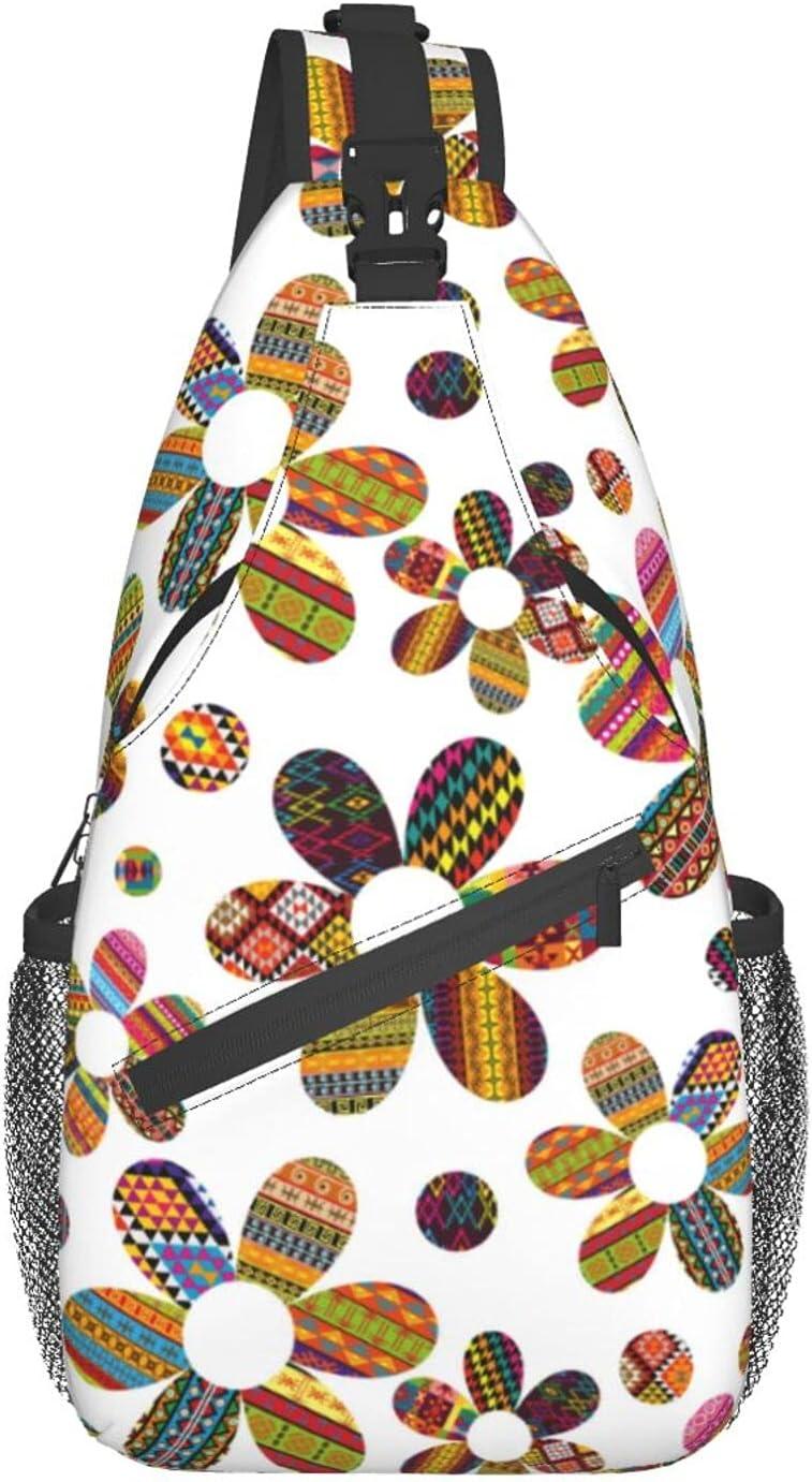 Ethnic Motifs Flowers Cross trend rank Chest Ranking TOP5 Sling Bag Backpack Diagonally