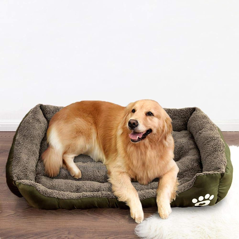 NATURELIFE Simon and Town Pet Dog Bed SelfWarming Lounge Sleeper Navy Brown Pink (XXXL, Brown)