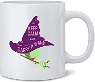 Poster Foundry Keep Calm and Carry a Wand Witch Funny Costume Coffee Mug Tea Cup 12 oz