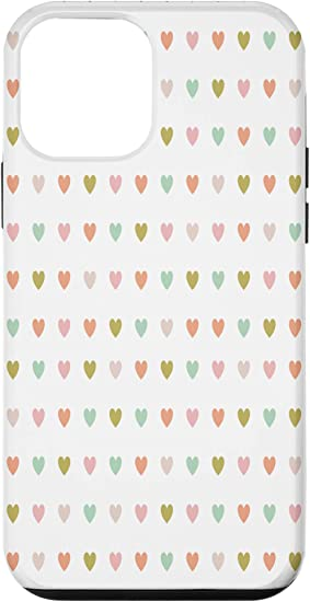 Amazon Com Iphone 12 Mini Pink Heart Background Wallpaper Hearts Mood Valentines Gift Case