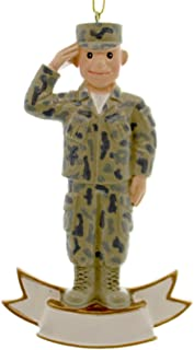 ORNAMENT MILITARY US ARMED FORCES SERVICE ARMY CHRISTMAS SOLDIER SNOWMAN 15077