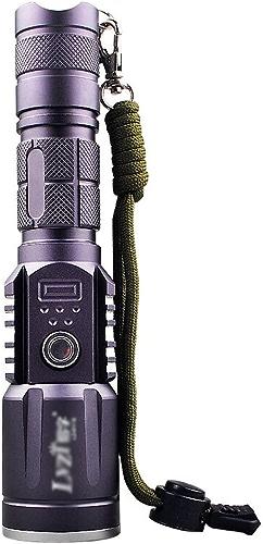 Lampe de poche LED USB rechargeable T6 Zoom lampe de poche haute puissance professionnelle lampe haute luminosité