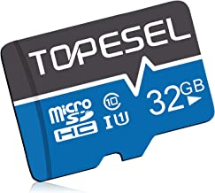 TOPESEL 32GB Micro SD Card UHS-I Speed up to 80m/s,Memory Card Micro SDHC,Class 10,U1 for Cemera/Phone/Nintendo-Switch/Gal...