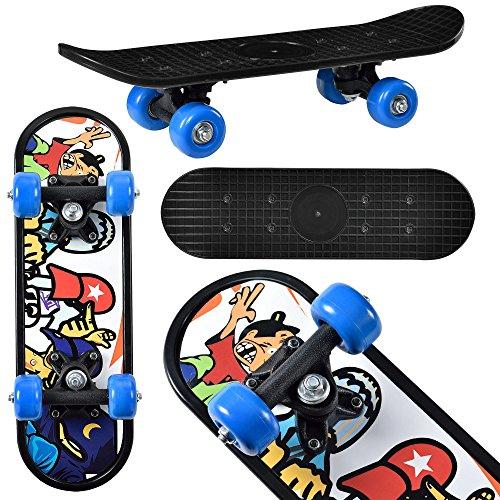 [pro.tec] Mini-Skateboard bis 25 kg 44x13x10cm mit Kugellager-Aufhängung Motiv B