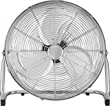 Optimus Industrial Grade 3-Speed High-Velocity Fan, 18 Inches, Chrome, F-4182