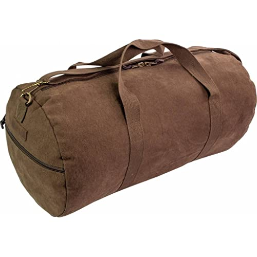Highlander Heavy Duty Canvas Large 45L HOLDALL Green Brown Webbing Shoulder  Bag (Brown) 6be75ef1ef3e8