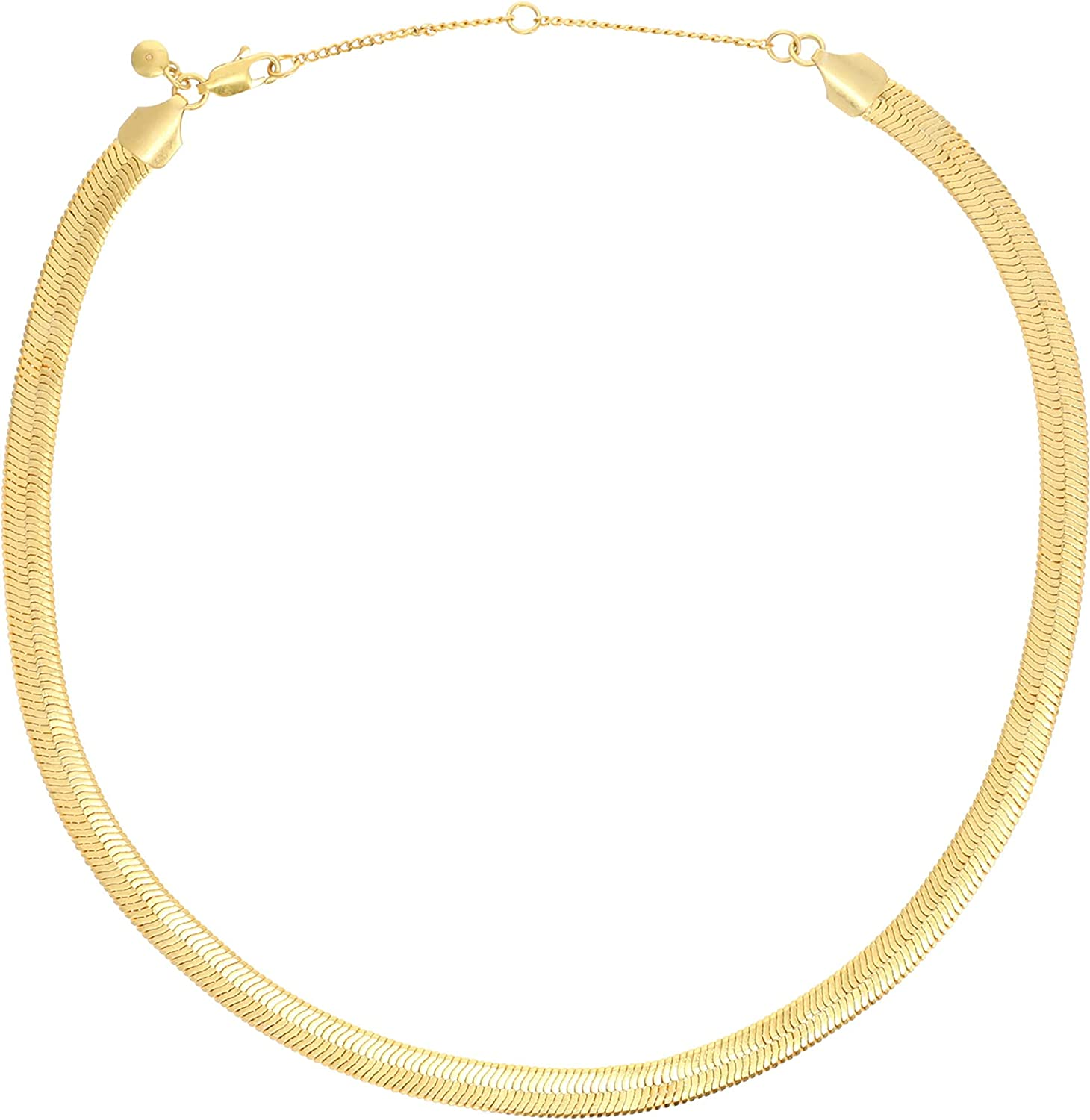 Madewell Chunky Herringbone Chain Necklace Vintage Gold One Size