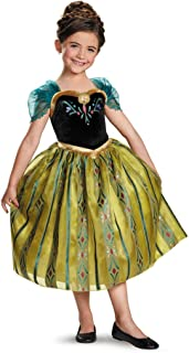 Disney's Frozen Anna Coronation Gown Deluxe Girls Costume