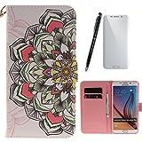 Lotuslnn Samsung Galaxy S6 Edge Plus Coque (5.7 Pouce) Floral ,PU Cuir Etui Housse Scratch...