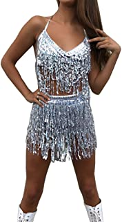 MUNAFIE Electric Music Festival Clothing for Women Carnival Halloween and Cosplay Cheerleader Costume for Women