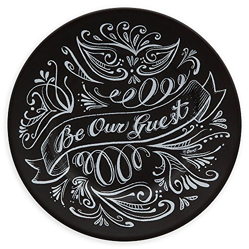 Disney Be Our Guest Dessert Plate - Black