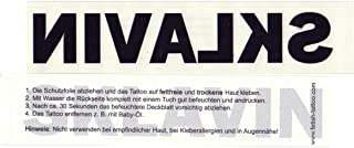 5 x SKLAVIN - Deutscher Tattoo Schriftzug in schwarz - Tempo