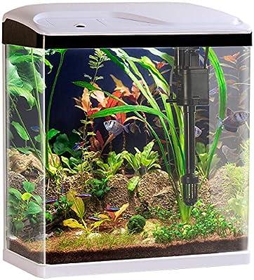 Sweetypet Fischbecken: Nano-Aquarium-Komplett-Set mit LED-Beleuchtung, Pumpe und Filter, 25 l (Aquarium-Becken)