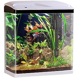 Sweetypet Aquarium Komplett-Set 25 Litern mit LED-Beleuchtung, Pumpe und Filter