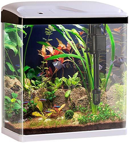 Sweetypet Nano Becken: Nano-Aquarium-Komplett-Set mit LED-Beleuchtung, Pumpe und Filter, 25 l (Mini Aquarium)