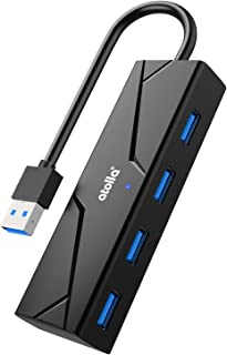 atolla Hub USB 3.0, 4 porte USB Hub dati da 5 Gbps, Multi USB Hub con design di cavo pieghevole per PC, laptop, supporta W...