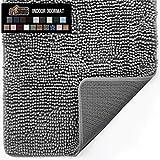 Gorilla Grip Original Indoor Durable Chenille Doormat, 30x20, Absorbent, Machine Washable Inside...