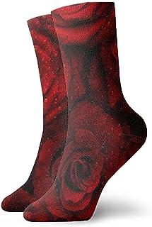 Dydan Tne, Niños Niñas Locos Divertidos Calcetines de Rosas Rojas Calcetines Lindos de Vestir de Novedad
