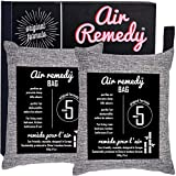 Air Purifying Bag, Activated Bamboo Charcoal – 500g x 2, Natural Air Freshener