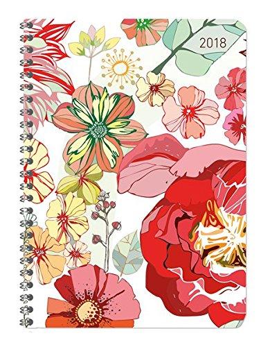 Ladytimer Ringbuch Blossoms 2018 - Taschenplaner / Taschenkalender A5 - Collegetimer / Schülerkalender - Weekly - Ringbindung - 128 Seiten