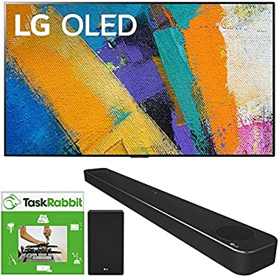 LG OLED77GXPUA 77-inch GX 4K Smart OLED TV with AI ThinQ (2020 Model) Bundle SN8YG 3.1.2 ch High Res Audio Soundbar with Dolby Atmos and Google Assistant + TaskRabbit Installation Services by LG