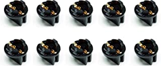 PA 10 Qty Twist Lock Wedge Instrument Panel Dash Light Base Plug-in Bulb Sockets Wireless Lamp Holders for T10/194/168(t3-1/4) Type Miniature Wedge Base Bulbs