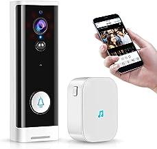 WiFi Video Deurbel, Tuya Smartlife APP Visuele Intercom 1080 P HD Camera, Slimme Draadloze Deurtelefoon Audio Talk IR Nach...