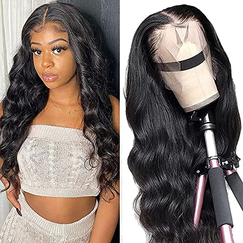 YYgY Lace Front Wigs Human Hair Body Wave 13x4 Lace Frontal Wig Pre Plucked with Baby Hair 100% Human Hair Wigs for Black Women 150% Denisty Brazilian Real Hair Natural Color (Body Wave 18Inch)