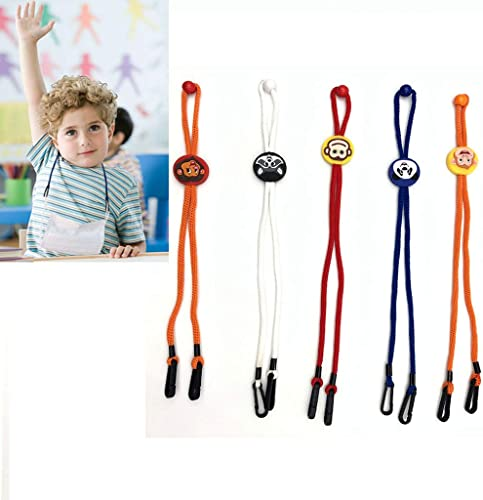 popular 5 Pack - Adjustable Face Protection Lanyard, Handy Face Covering Extender Strap, 2021 Ear Savers for new arrival Kids - Easy On Off outlet online sale