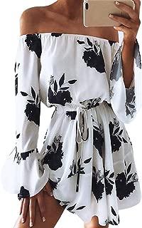 kenoce Women's Off The Shoulder Dress Long Sleeve Elegant Knitted Bodycon Tie Waist Sweater Pencil Dress Party Mini Dress