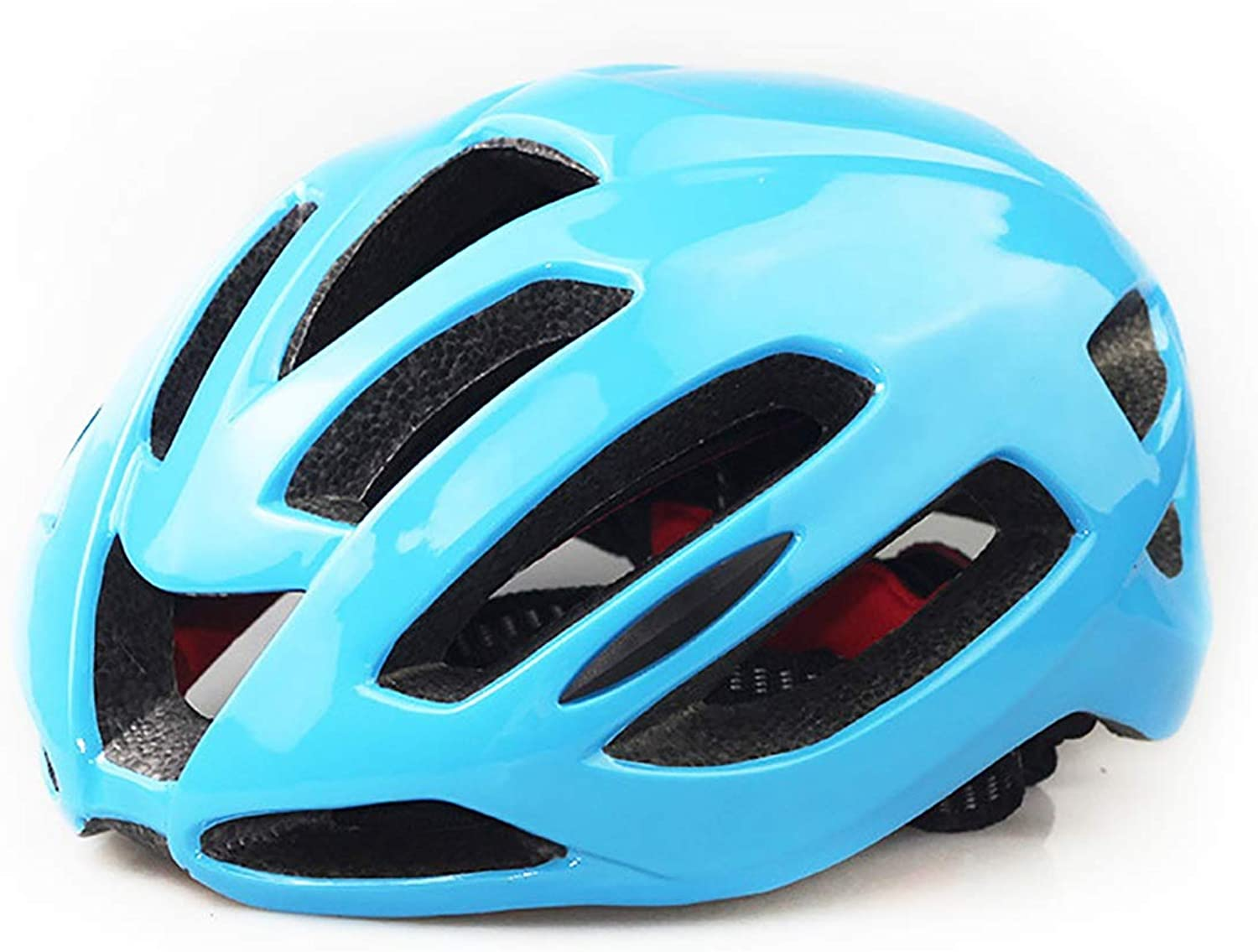 Mountain Bike Helmet, PC and EPS Material, Integrated molding Riding Helmet Outdoor, L Code, Male and Female Common.   (color   blueee)