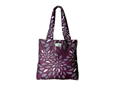 Haiku Bloom (Plum Feather Print) Tote Handbags