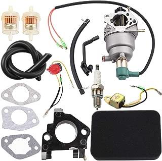 Dxent Carburetor with Air Filter Tune-Up Kit for Champion 40023 40030 41135 41152 41154 41302 41311 41331 41332 41351 49011 49056 C41155 C49055 CSA40036 ETL7007 Portable Generator Spark Plug