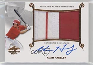 Adam Haseley (Baseball Card) 2017 Leaf Trinity - Patch Autographs - Bronze Holofoil Spectrum #PA-AH1