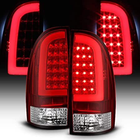 ACANII - For 2005-2015 Toyota Tacoma Red Lens LED Tube Tail Lights Lamps 05-15 Left+Right