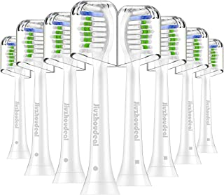 Replacement Brush Heads Compatible with Phillips Sonicare Electric Toothbrush DiamondClean, HealthyWhite, FlexCare, EasyClean, Essence+, PowerUp, 8 Pack by Jiuzhoudeal