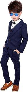 VIYOR 男の子 スーツ 卒業式 入学式 スーツ キッズ ジュニア 子供スーツ 入園式 発表会 4点セット