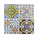 Artemio Set de 4Adhesivos Mosaico, Resina epoxi, Multicolor, 26,5x 0,2x 31cm...