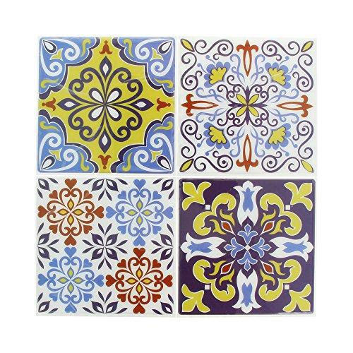 Artemio Set de 4Adhesivos Mosaico, Resina epoxi, Multicolor, 26,5x 0,2x 31cm