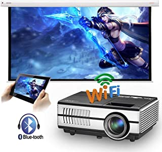 Mini Wireless LED Movie Projector WiFi Bluetooth HDMI LCD Portable HD Smart Android Video Projector with Built-in Speaker ...