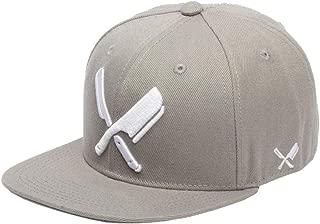 Distorted People Barber & Butcher Logo Blades Mud Grey Snapback Cap Basecap OSFA One Size