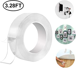 Washable Adhesive Transparent Tape Nano Tape,Grip Tape,Reusable Traceless Tape, Adhesive Silicone Tape,Free to Remove, Can Stick to Cellphone,Pads,Keys, Kitchen Tools,Stick to Glass, Metal, Kitchen