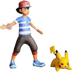 Bandai - Pokémon - Figurine à fonction 12 cm - Sacha & son Pikachu - 81213