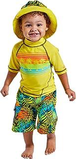 UV SKINZ UPF 50+ Boys 3-Piece Swim Set (6, Beach Vibes)