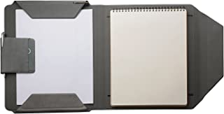 Padfolio Document Folder with Writing Pad Holder, Slim Simple Portfolio with Magnetic A4 File Paper Clip