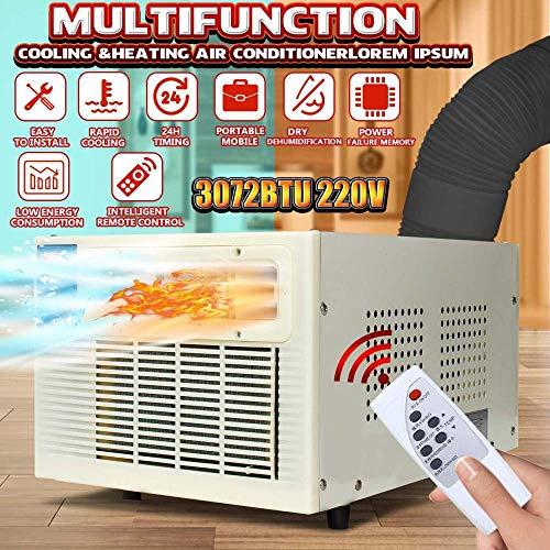 Warmwin Aire Acondicionado 220V hogar portátil refrigerador Calentador Ventana Aire Acondicionado refrigeración calefacción frío/Calor Doble Uso Tubo Gratis Regalo-Estados Unidos