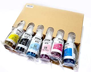 Epson 673 INK, packing ink. From Epson L1800,Epson L805 printer. For Epson L1800 L805,L800,T50,T60,1410,