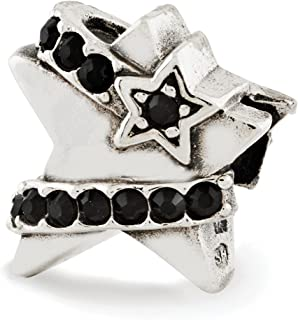 925 Sterling Silver Charm For Bracelet Star Black Swarovski Crystal Bead Stone Fine Jewelry Gifts For Women For Her