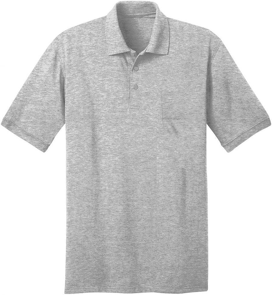 Port & Company Men's Comfortable Knit Pocket Polo Shirt_Ash_XXXXXX-Large